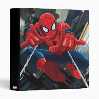 Spider-Man Shooting Web High Above City 3 Ring Binder