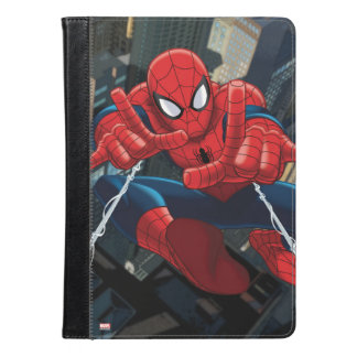 Spider-Man Shooting Web High Above City iPad Air Case