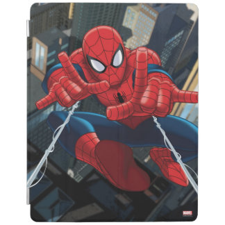 Spider-Man Shooting Web High Above City iPad Smart Cover