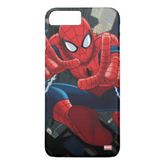 Spider-Man Shooting Web High Above City iPhone 7 Plus Case