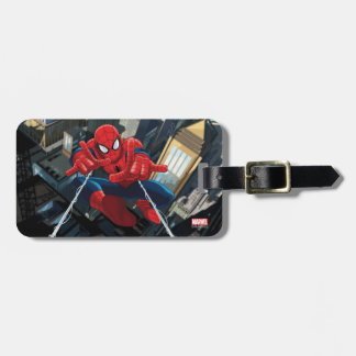 Spider-Man Shooting Web High Above City Luggage Tag