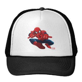 Spider-Man Shooting Web High Above City Trucker Hat