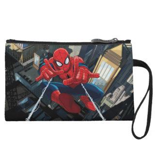 Spider-Man Shooting Web High Above City Wristlet Wallet