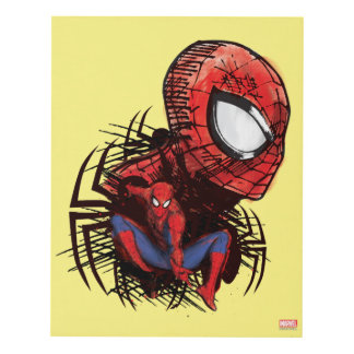 Spider-Man Sketched Marker Drawing Panel Wall Art