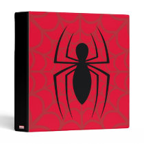 Spider-Man Skinny Spider Logo 3 Ring Binder
