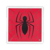 Spider-Man Skinny Spider Logo Acrylic Tray