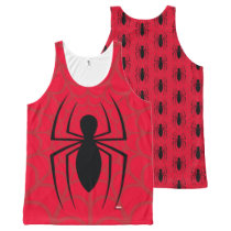 Spider-Man Skinny Spider Logo All-Over-Print Tank Top