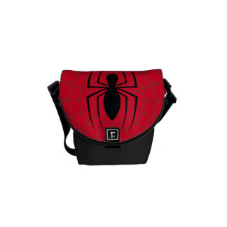 Spider-Man Skinny Spider Logo Courier Bag