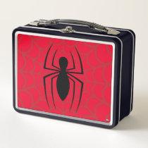 Spider-Man Skinny Spider Logo Metal Lunch Box