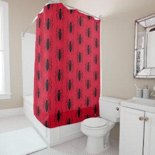 Spider Man Skinny Logo Shower Curtain