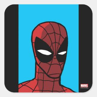 Spider-Man Stare Square Sticker