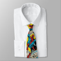 Spider-Man Swinging Out Of Comic Panels Neck Tie