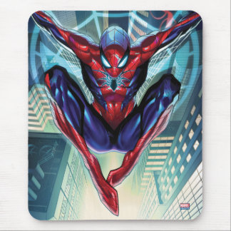 Spider-Man | Swinging Over City Glow Mouse Pad