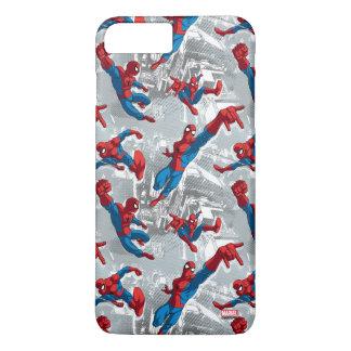 Spider-Man Swinging Over City Pattern iPhone 8 Plus/7 Plus Case