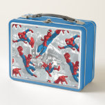 """Spider-Man Swinging Over City Pattern Metal Lunch Box<br><div class=""""desc"""">Spider-Man 