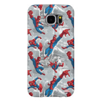 Spider-Man Swinging Over City Pattern Samsung Galaxy S6 Case