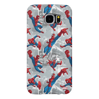 Spider-Man Swinging Over City Pattern Samsung Galaxy S6 Case