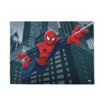 Spider-Man Swinging Through Downtown Doormat