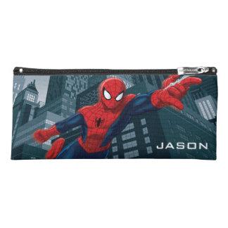 Spider-Man Swinging Through Downtown Pencil Case