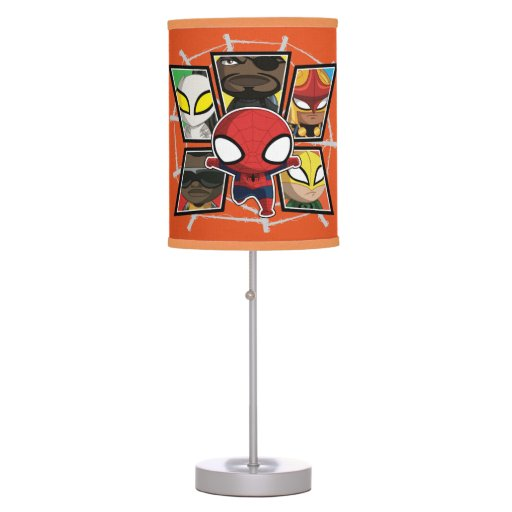 Zazzle Spider-Man Team Heroes Chibi Group Table Lamp