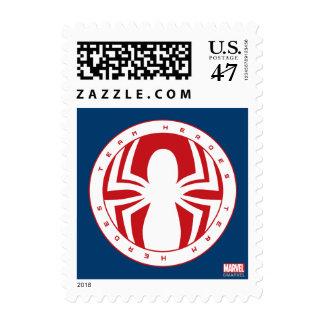 Spider-Man Team Heroes Emblem Postage