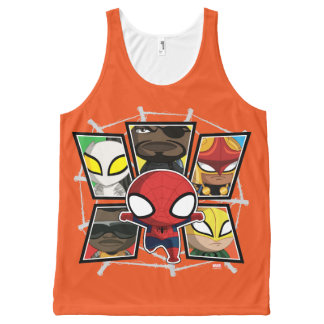 Spider-Man Team Heroes Mini Group All-Over-Print Tank Top