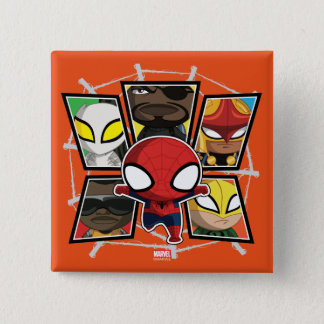 Spider-Man Team Heroes Mini Group Button