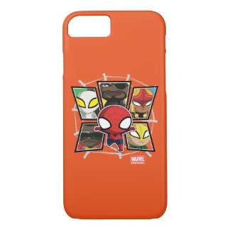 Spider-Man Team Heroes Mini Group iPhone 7 Case