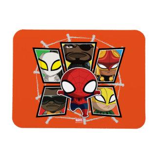 Spider-Man Team Heroes Mini Group Rectangular Photo Magnet