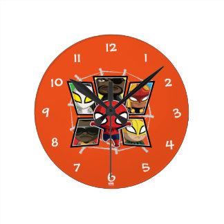 Spider-Man Team Heroes Mini Group Round Clock