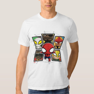 Spider-Man Team Heroes Mini Group T-Shirt