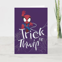 "Spider-Man ""Trick or Thwip"" Card"