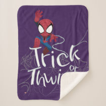 "Spider-Man ""Trick or Thwip"" Sherpa Blanket"