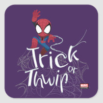 "Spider-Man ""Trick or Thwip"" Square Sticker"