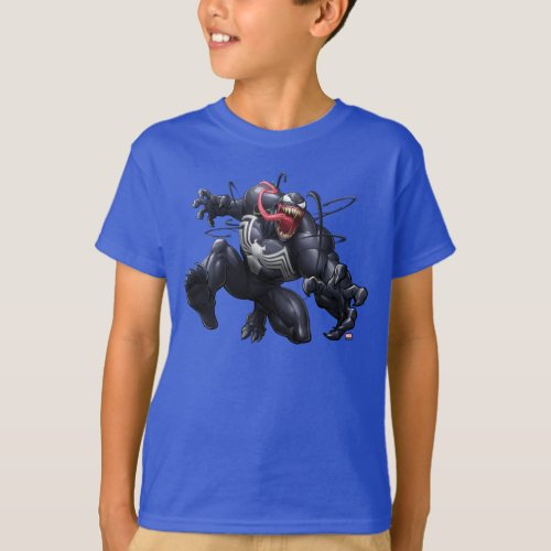 Spider_Man  Venom Leaping Forward T_Shirt