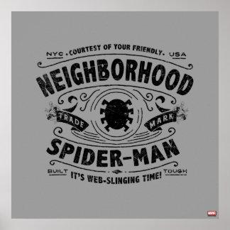 Spider-Man Victorian Trademark Poster