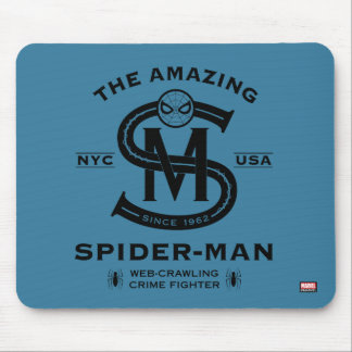 Spider-Man | Vintage Typography Graphic Mouse Pad