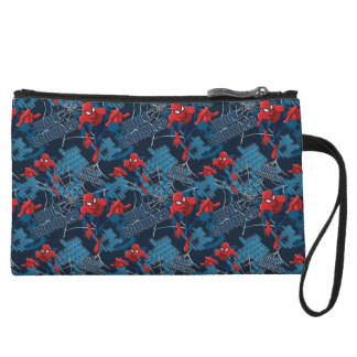 Spider-Man Wall Crawler Pattern Wristlet Wallet