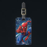 """Spider-Man   Web-Shooting Leap Bag Tag<br><div class=""""desc"""">Spider-Man leaps,  arm outstretched and shooting out web in this amazing character graphic.</div>"""