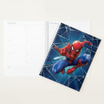 "Spider-Man | Web-Shooting Leap Planner<br><div class=""desc"">Spider-Man leaps,  arm outstretched and shooting out web in this amazing character graphic.</div>"