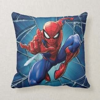 Spider-Man | Web-Shooting Leap Throw Pillow