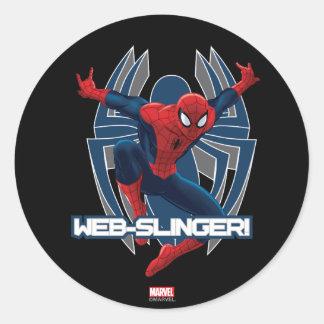 Spider-Man Web-Slinger Graphic Classic Round Sticker