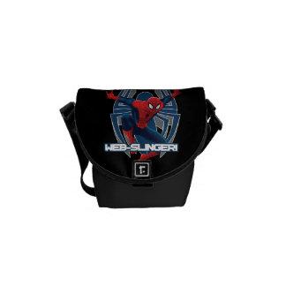 Spider-Man Web-Slinger Graphic Messenger Bag