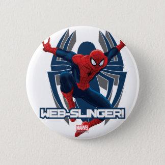 Spider-Man Web-Slinger Graphic Pinback Button
