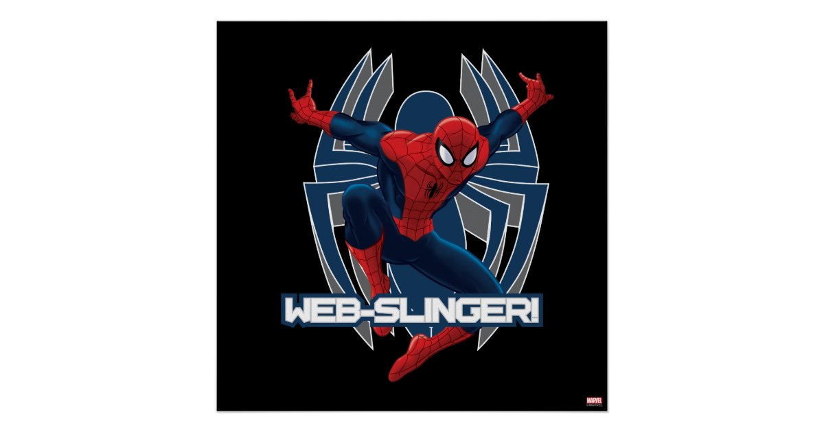 Spider Man Web Slinger Graphic Poster Zazzle Com