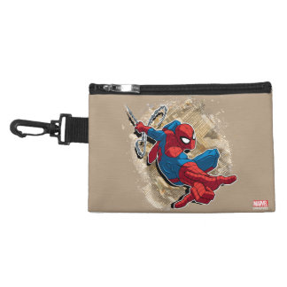 Spider-Man Web Slinging Above Grunge City Accessories Bags