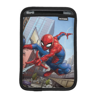Spider-Man Web Slinging By Train iPad Mini Sleeve