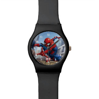 Spider-Man Web Slinging By Train Wristwatch