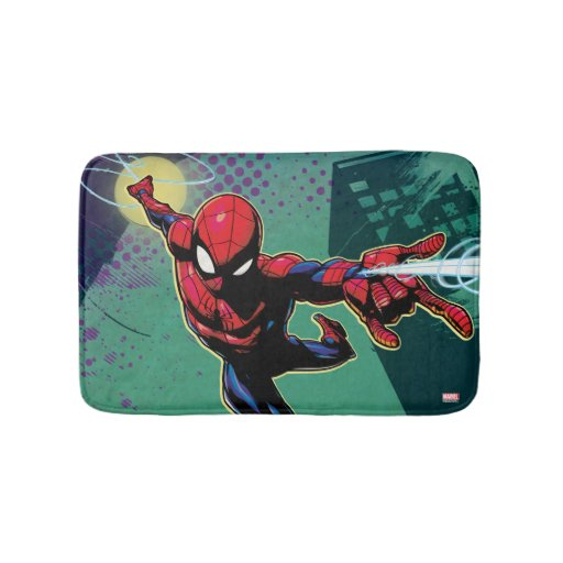 Spider-Man Slinging From Above Bath Mat