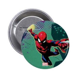 Spider-Man Web Slinging From Above Button